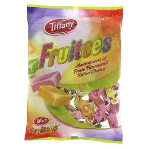 Tiffany Fruitees Assortment Of Fruit Flavoured Toffee Chews 600g