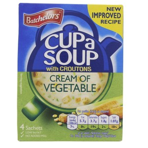 Batchelor Cream of Vegetable with Croutons Soup 122g
