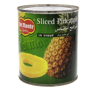 Delmonte Sliced Pineapple In Syrup 836g