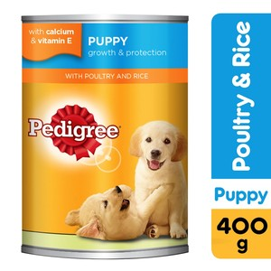 Pedigree Puppy with Poultry and Rice Wet Dog Food Can 400g