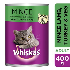 Whiskas Mince Lamb Turkey & Veg Can 400g