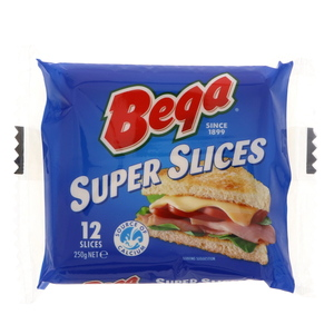 Bega Super Slices Cheese 250g