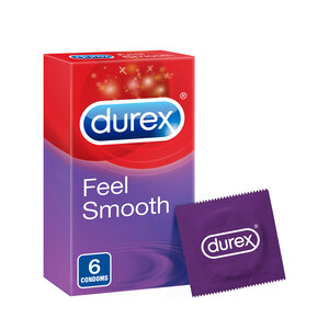 Durex Feel Smooth Condoms 6pcs
