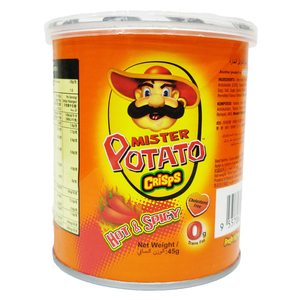 Mister Potato Crisps Hot & Spicy 45g