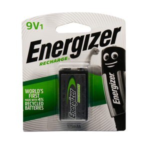 Energizer Recharge 9V Alkaline Battery 1pc