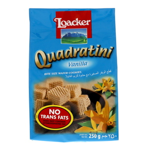 Loacker Quadratini Vanilla Wafer Cookies 250g