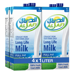 Al Safi UHT Milk Full Fat 4 x 1Litre
