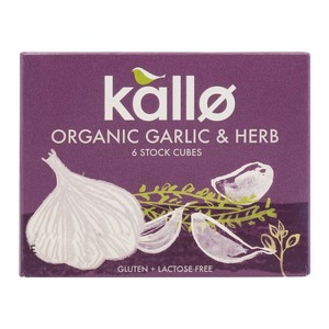 Kallo Organic Garlic & Herb 6 Stock Cube 66g