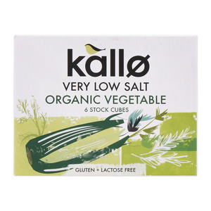 Kallo Very Low Salt Organic Vegetable 6 Stock Cubes 60g