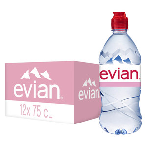 Evian Natural Mineral Water with Sports Cap 750ml