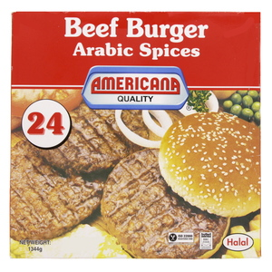 Americana Beef Burger Arabic Spices 1344g