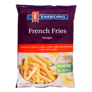 Emborg French Fries Straight Cut 1kg