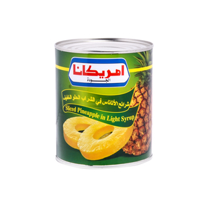 Americana Sliced Pineapple In Light Syrup 825g