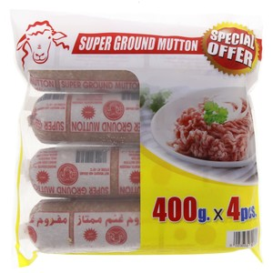 Americana Frozen Super Ground Mutton 4 x 400g