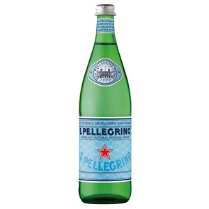 San Pellegrino Sparkling Natural Mineral Water Glass Bottle 750ml