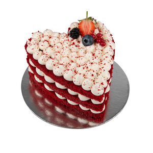 Valentine's Red Velvet Cream Cake 1pc
