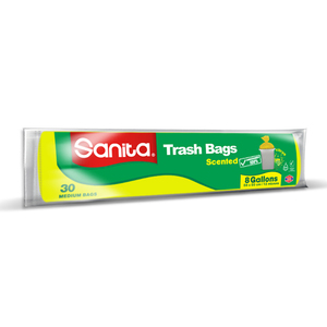 Sanita Trash Bags Biodegradable 8 Gallons Size 58 x 50cm 30pcs