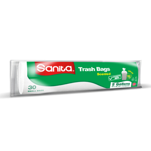 Sanita Trash Bags Biodegradable 5 Gallons Size 50 x 46cm 30pcs