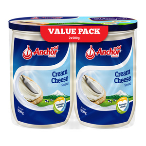 Anchor Spread Cream Cheese 2 x 500g