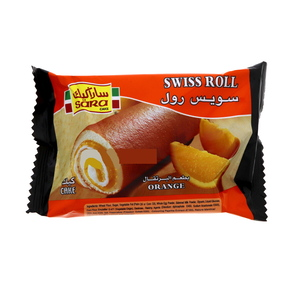 Sara Swiss Roll Cake Orange 75g