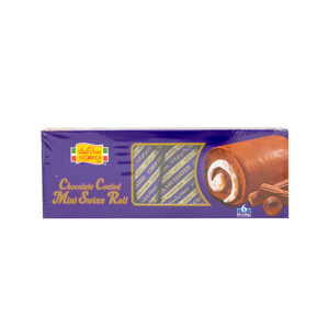 Sara Chocolate Coated Minis Swiss Roll 6 x 25g