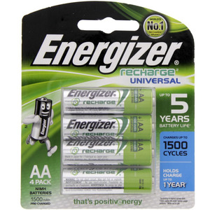 Energizer Rechargeable AA Battery NH15BP4