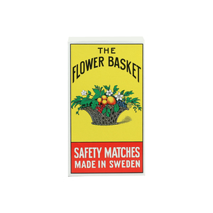 The Flower Basket Safety Match Box Big 1pc