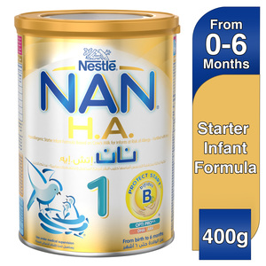 Nestle NAN H.A. Stage 1 From birth to 6 months Hypoallergenic Starter Infant Formula Fortified with Iron 400g