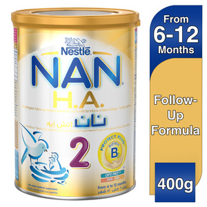 Nestle NAN H.A. Stage 2 From 6 to 12 months Hypoallergenic Followup Formula Fortified with Iron 400g