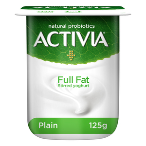 Activia Stirred Yoghurt Full Fat Plain 125g