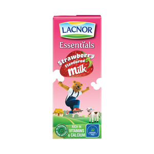 Lacnor Essentials Strawberry Flavoured Milk 180ml
