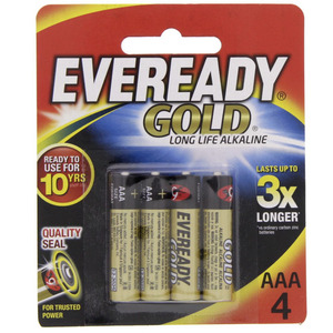 Eveready Gold AAA Battery A92 BP4
