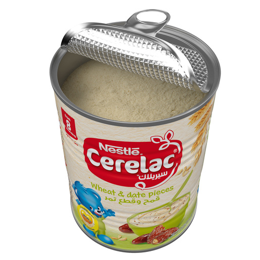Nestle Cerelac Infant Cereals with Iron + Wheat & Date Pieces From 8 Months 400g