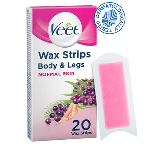 Veet Hair Removal Cold Wax Strips Normal Skin 20pcs