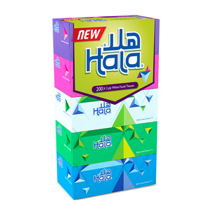 Hala White Facial Tissue 2 ply 150 Sheets