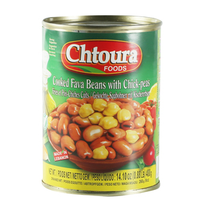 Chtoura Foods Fava Beans with Chickpeas 400g