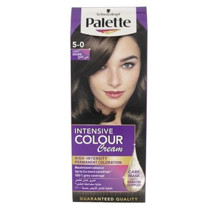 Palette Intensive Colour Cream 5-0 Light Brown 1 Packet