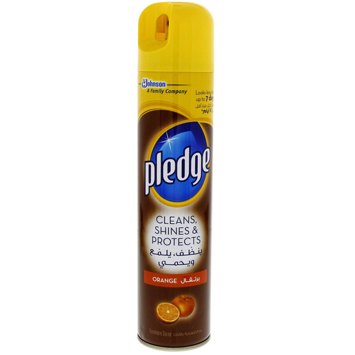 Pledge Cleans, Shines & Protects Orange Furniture Spray 300ml