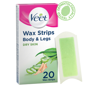 Veet Hair Removal Cold Wax Strips Dry Skin 20pcs