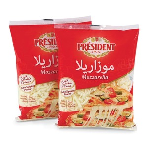 President Shredded Mozzarella 200g x 2pcs