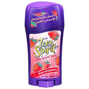 Mennen Teen Spirit Lady Speed Stick Deodorant Anti Perspirant Sweet Strawberry 65g