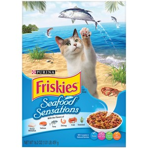 Purina Friskies Seafood Sensations Cat Dry Food 459 Gm