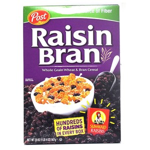 Post Raisin Bran Whole Grain Wheat & Bran Cereal 567g