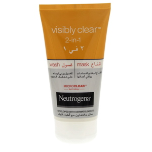 Neautrogena Visibly Clear 2 In 1 Wash & Mask 150ml