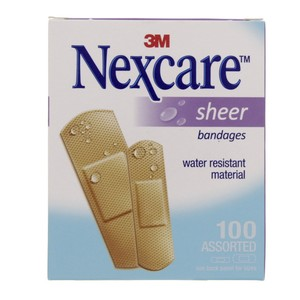 Nexcare Sheer Bandages 100pcs