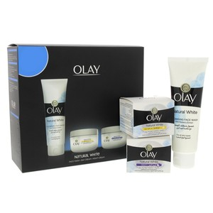 Olay Natural White Day Cream 50ml + Night Cream 50ml + Face Wash 100ml