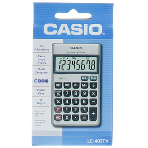 Casio Electronic Calculator LC-403TV