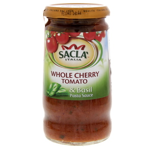 Sacla Whole Cherry Tomato & Basil Pasta Sauce 350g