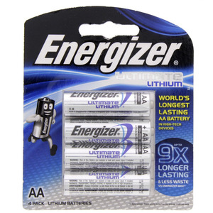 Energizer Ultimate Lithium AA battery  L91BP4