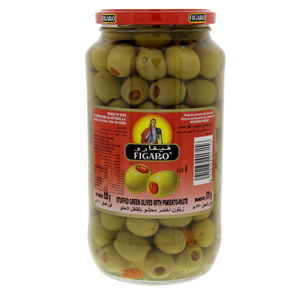 Figaro Stuffed Green Olives With Pimiento-Paste 575g